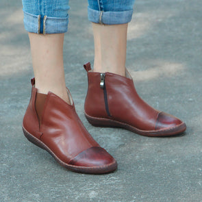 Retro Zipper Women Autumn Winter Boots