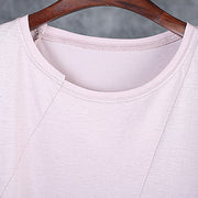 Round Neck Oblique Collar Stitching Comfortable T-Shirt