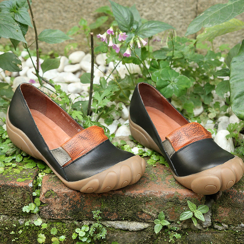Round Toe Retro Comfortable Shoes