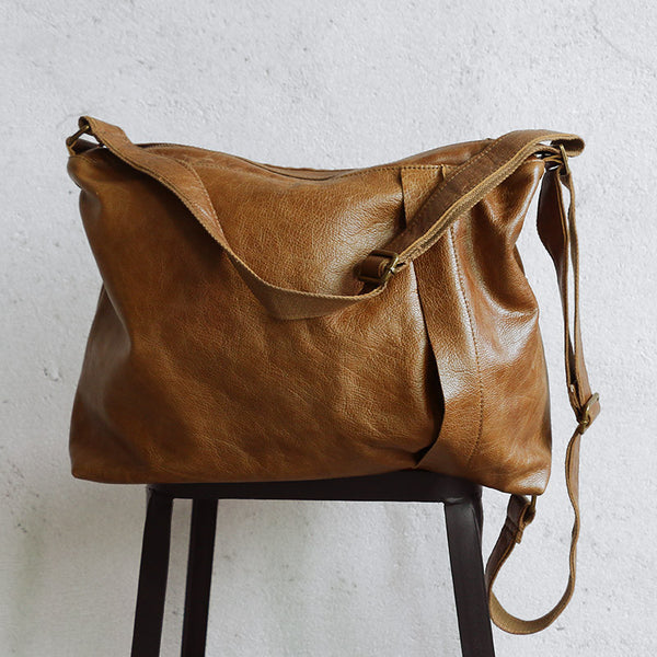 Leather Women Canvas Casual Shoulder Bag - Buykud