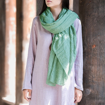 Simple Pure Color Cotton Linen Scarf