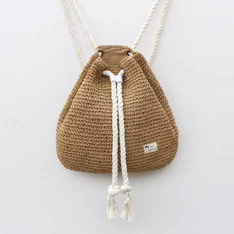 Simple Fashion Vacation Beach Weaving Backpack