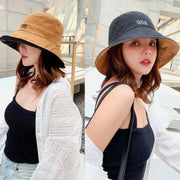 Simple Letter Printed Sunscreen Sun Hat