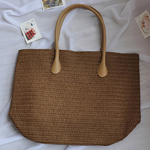 Simple Solid Color Beach Tote Bag