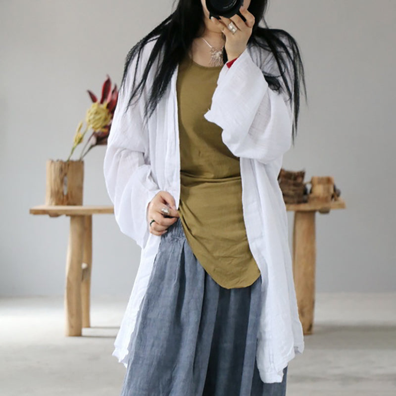 Simple Solid Color Sun Protection Shirt Coat