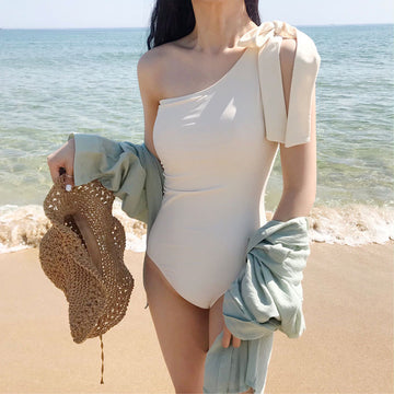 Single Shoulder One Piece Swimsuit