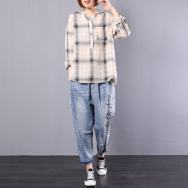 Single Breasted Women Spring Loose Shirt