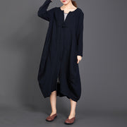 Single Button Solid Color Long Sleeve Coat