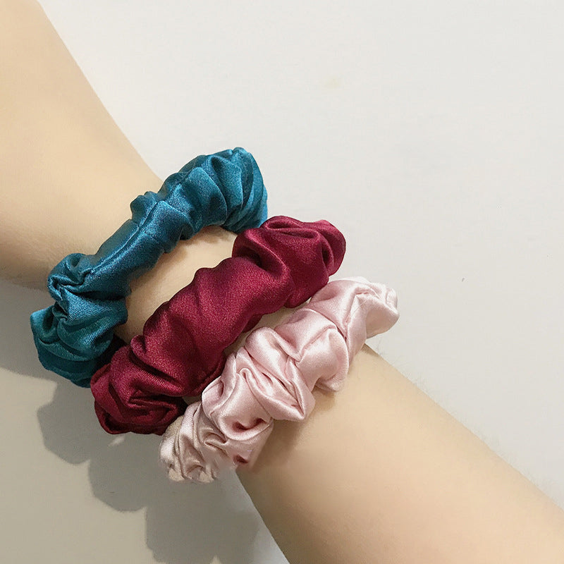 Solid Color 100% Mulberry Silk Hair Rope
