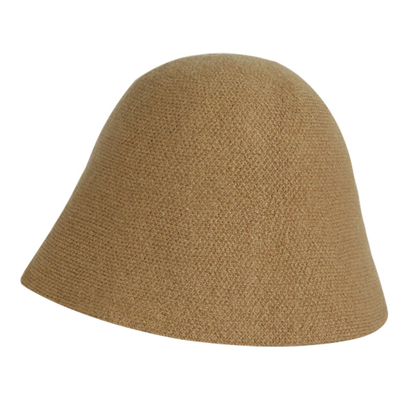 Solid Color Bucket Shaped Knitted Hat