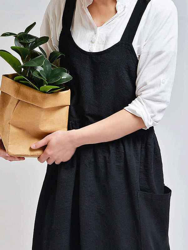 Solid Color Kitchen Florist Apron
