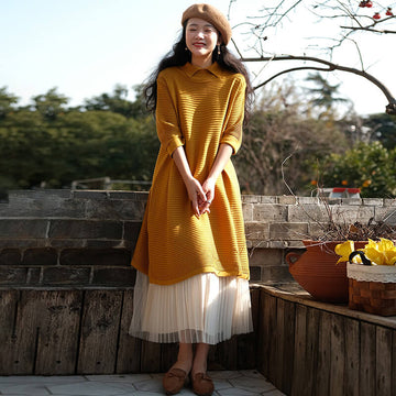 Knitted Sweater 100% Cotton Dress