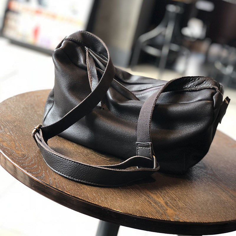 Solid Color Large Capacity Shoulder Bag