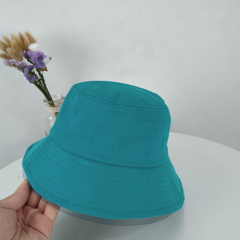 Solid Color Outdoor Sunscreen Cotton Bucket Hat