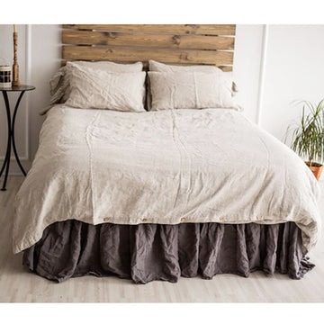 Solid Color Pure Linen Quilt Cover