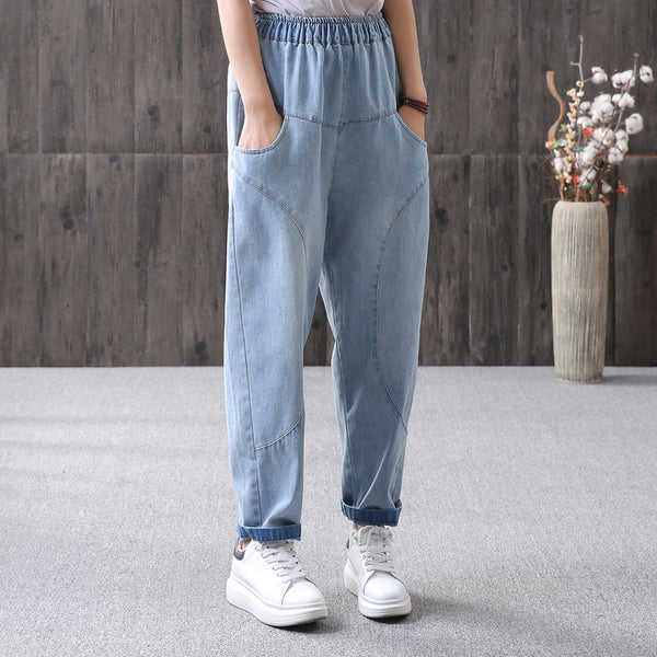 Solid Casual Simple Straight Ankle Length Jeans