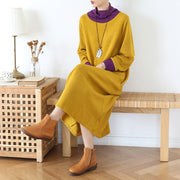 Solid Color Casual Elegant Knit Dress