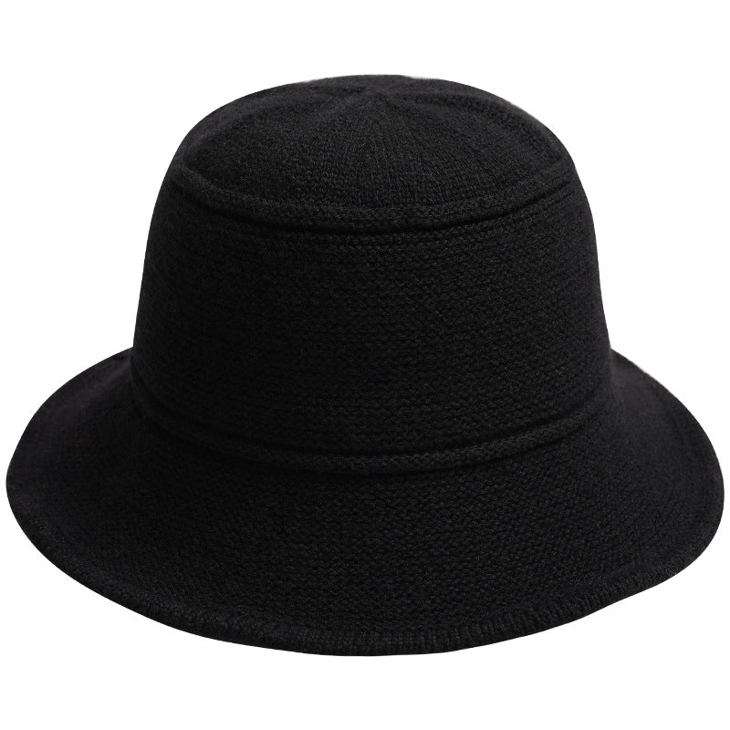 Solid Color Knitted Bucket Hat