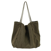 Solid Color Large Capacity Canvas Bag