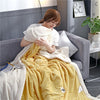 Solid Color Soft Polyester Winter Warming Blanket