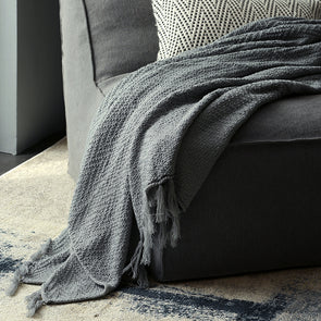 Solid Tessel Soft Acrylic Parlor Blanket