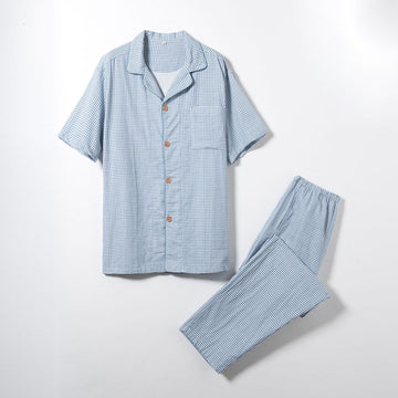 Spring And Summer Men'S Cotton Pajamas Suit