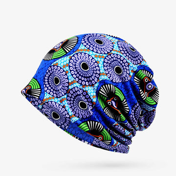 Spring Outdoor Windproof Print Cotton Hat