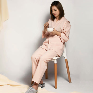 Spring Pure Color Cotton Loungewear For Women