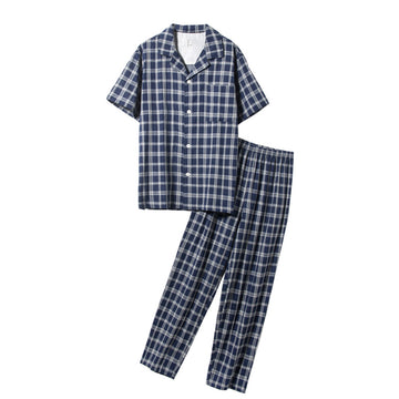 Spring Summer Cotton Pajamas For Men