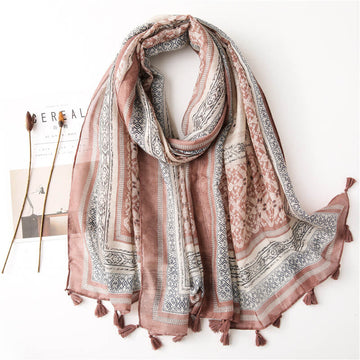 Spring Summer Traveling Sunscreen Geometric Scarf Shawl