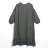 Spring Casual Loose Long Sleeve Solid Pullovers Dress