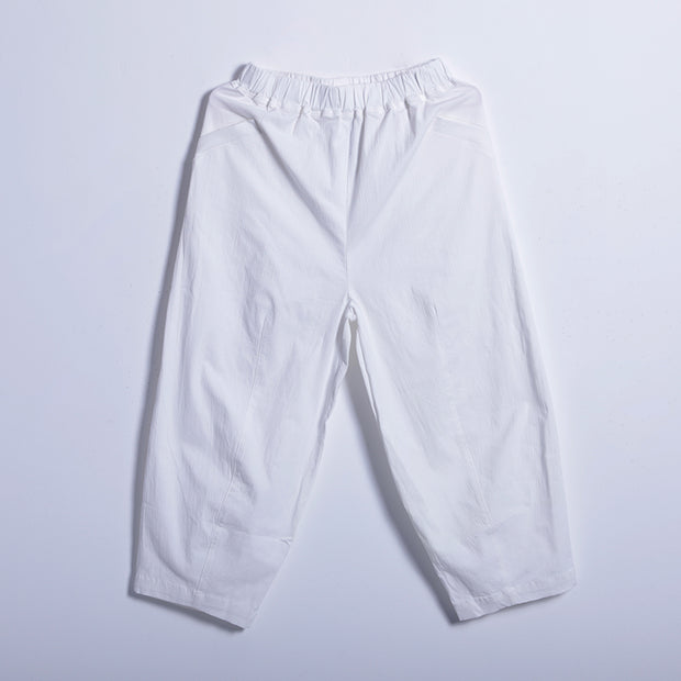 Spring Casual Solid Harem Pants Calf Length Pants