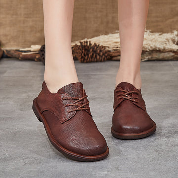 Spring Leather Casual Soft Bottom Loafers