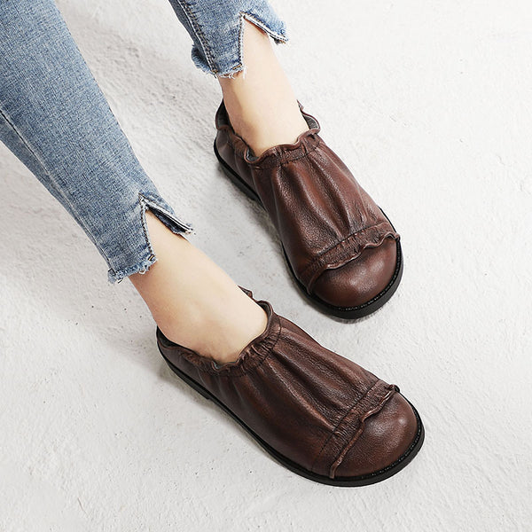 Spring Leather Vintage Hand Make Loafers