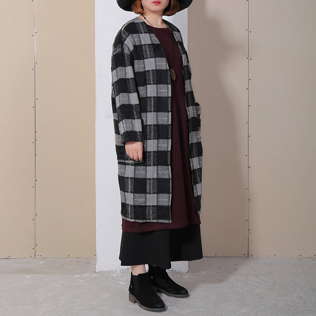 Spring Loose Lattice Casual Thin Women Coat