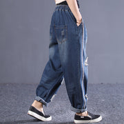 Spring Loose Washed Hole Women Jeans