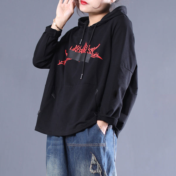 Spring New Female Cool Fashion Print Hoodie