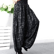 Spring Plus Size Cotton Ankle Length Elastic Waist Pants
