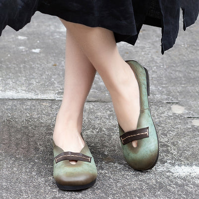 Spring Vintage Round Head New Flat Shoes