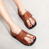 Solid Leather Personalized Flip-Flops Sandals