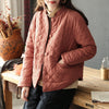 Stand Collar Cotton Women Vintage Retro Coat