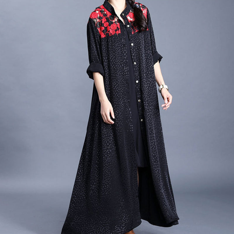 Star Flower Hollow Out Spring Dress