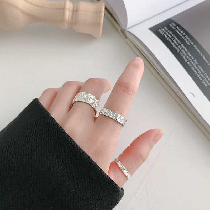 Sterling Silver Irregular Rugged Ring