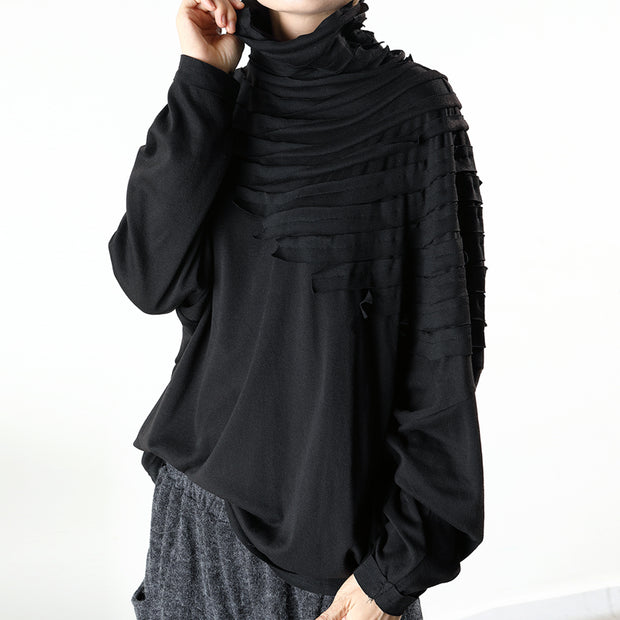 Striped Patch Casual Comfortable Thermal Blouse