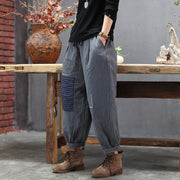 Striped Patchwork Casual Warm Harem Pants
