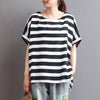 Striped Short Sleeve Casual Cotton T-Shirt