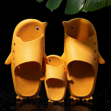 Summer Cartoon Penguin Indoor Bathroom Parent Child Slippers
