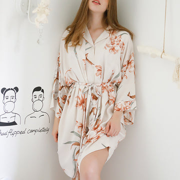 Summer Flower Print Nightgown