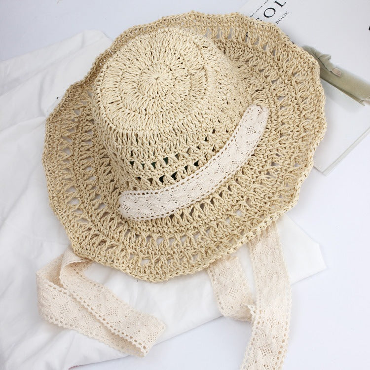 Summer Lace Handmade Woven Foldable Bucket Hat