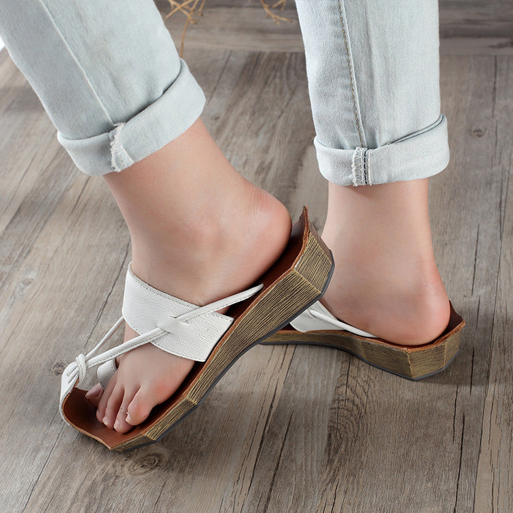 Summer Leather Polygonal Sandals